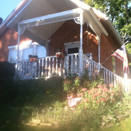 The porch we added to our 1869 home.